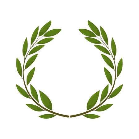 olive wreath. Isolated vector illustration on white background. Organic and natural concept. Vector Illustration