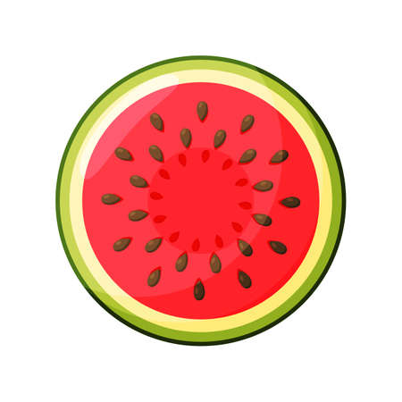 Watermelon Icon in trendy flat style isolated on white background. Summer symbol for your web site design, app.