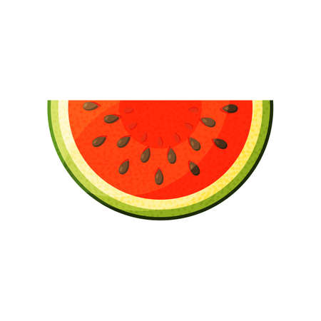 Watermelon Icon in trendy flat style isolated on white background. Summer symbol for your web site design, logo, app.