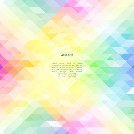 iridescent: Abstract illustration vector background with colorful iridescent triangle