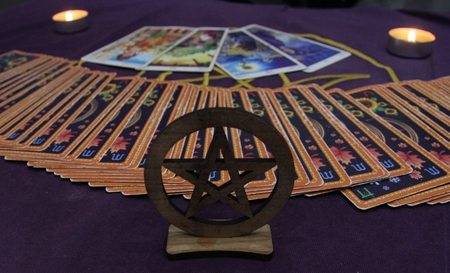 Tarot cards used for magic, divination and prediction
