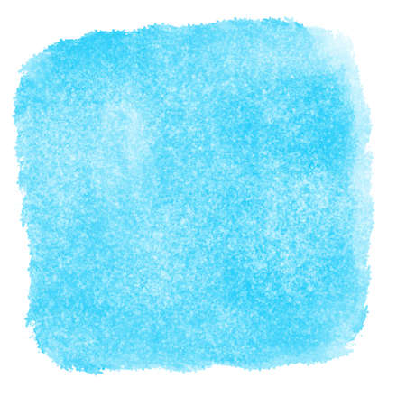 Blue watercolor textured backdrop wallpaper background. Hand drawing square watercolor paint on paper. Rugged grunge texture aquarelle hue