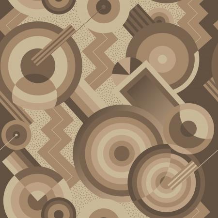 レトロなスタイルのアールデコのシームレスな幾何学的なパターン  イラスト・ベクター素材