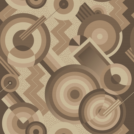 art deco: Seamless geometric pattern in retro style Art Deco