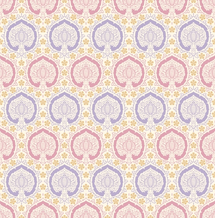 The vintage seamless pattern, the stylized pomegranate.  Vector
