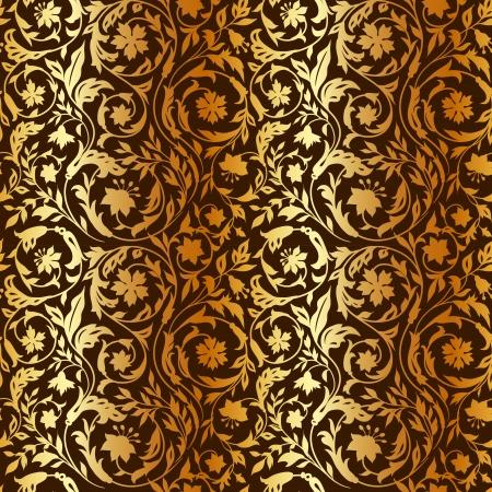 양식에 일치시키는 야생화와 빈티지 플로랄 원활한 패턴 일러스트