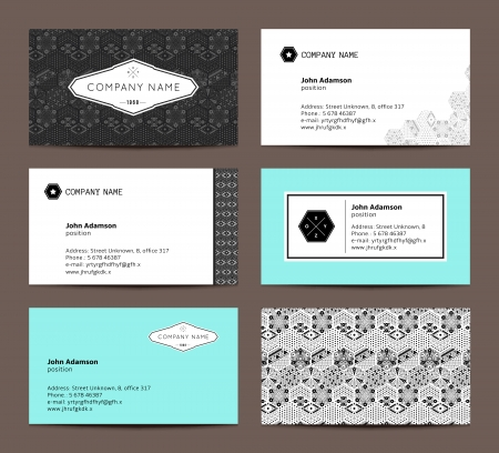 bussiness: Set of elegant business cards Illustration