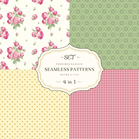 A set of seamless classic pattern Stock Vector - 24965955