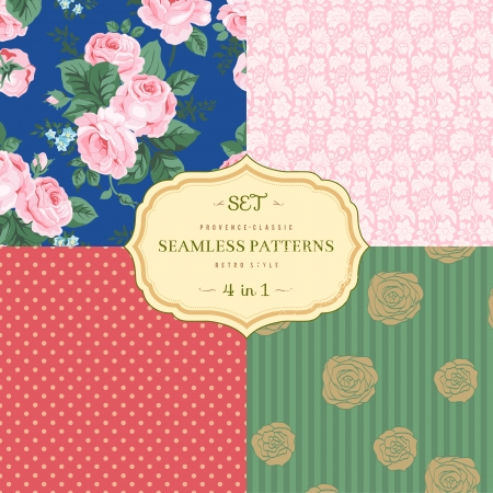 A set of seamless classic pattern Vector