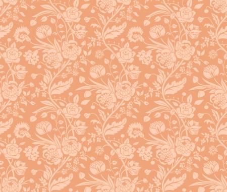 Pastel naadloze patroon met een vintage bloem boeketten anjers en chrysanten Vector Illustratie
