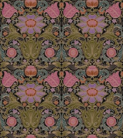 naadloze barok vintage patroon met gestileerde bloemen
