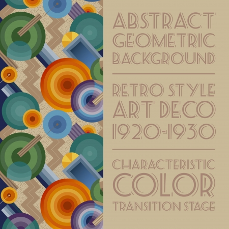 art deco background: Geometric background in the style of Art Deco Illustration