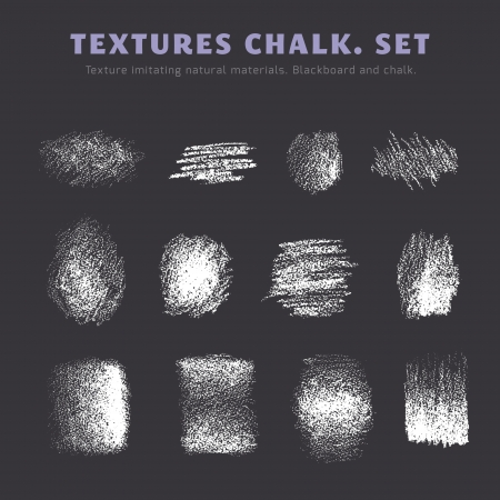 A set of textures. Blackboard and chalk Çizim