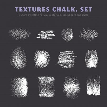 Eine Reihe von Texturen. Tafel und Kreide Standard-Bild - 25024580