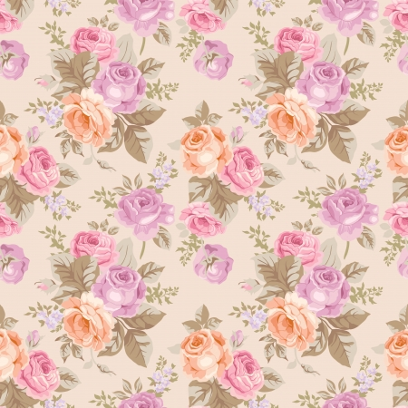 Seamless pattern with vintage roses Фото со стока - 25024083