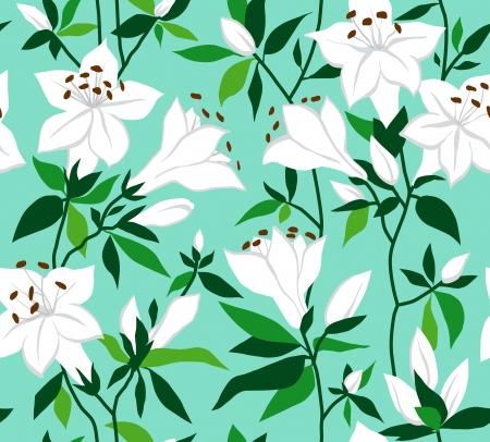azal�e: Retro arri�re-plan floral avec des fleurs blanches sur fond de menthe azal�es.