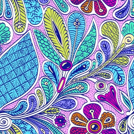 ethno: Bright seamless ethnic pattern pattern