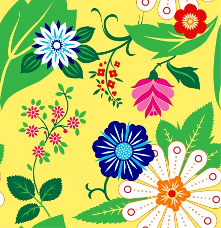 Seamless vector floral pattern the flower bright Vector