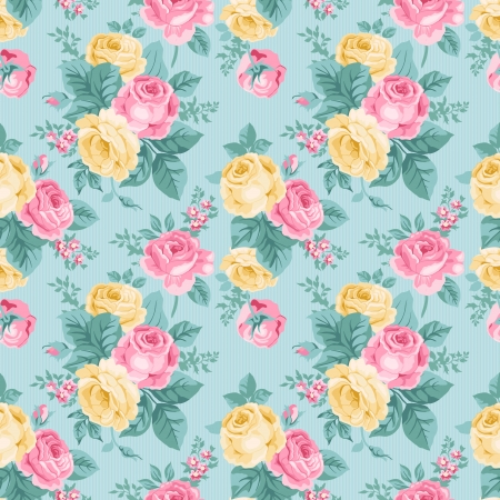shabby chic: seamless vintage floral pattern