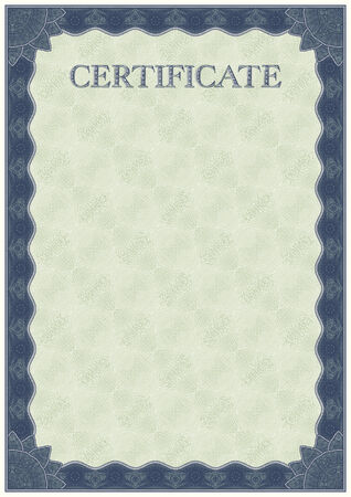 certificate template: Certificate