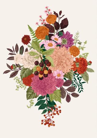 Floral vector illustration 免版税图像 - 83924249