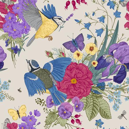 Patrones florales sin fisuras. Ilustración de vector