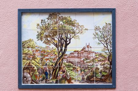 Beautiful Portuguese art in the street of Sintra