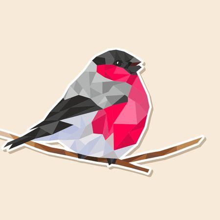 bullfinch: bullfinch triangle bird Illustration