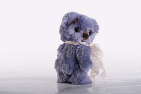 resentment: Resentment. A Teddy bear is turning back. Stock Photo