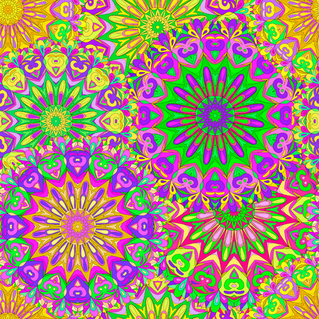 Colorful seamless pattern mandala, can be used for wallpaper, pattern fills, web page background, surface textures. Arabic, India.