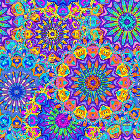 Colorful seamless pattern mandala, can be used for wallpaper, pattern fills, web page background, surface textures. Arabic, India, Islam. Reklamní fotografie - 61652248
