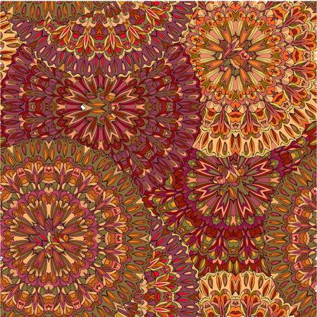 Colorful seamless pattern mandala, can be used for wallpaper, pattern fills web page background, surface textures. Illustration