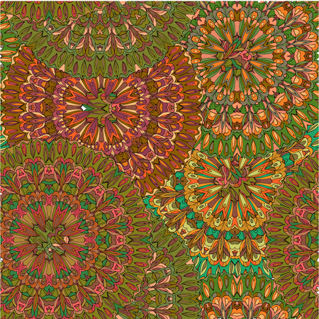 Colorful seamless pattern mandala, can be used for wallpaper, pattern fills web page background, surface textures. Ilustrace