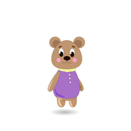 ?ute cartoon Bear on a white background, can be used for wallpaper, design, card, invitation.