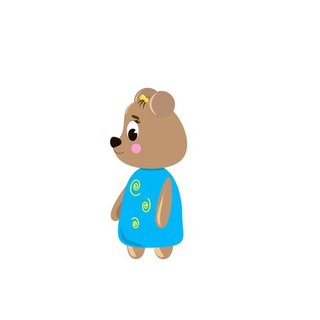 Cute cartoon Bear on a white background, can be used for wallpaper, design, card, invitation.
