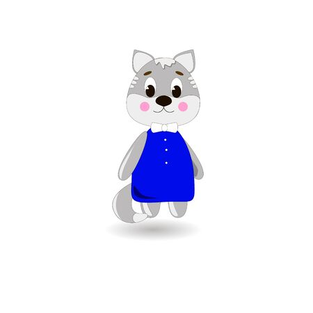Cute cartoon Cat on a white background, can be used for wallpaper, design, card, invitation.
