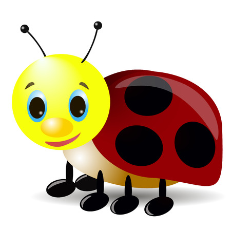 Cartoon ladybug illustration Ilustrace