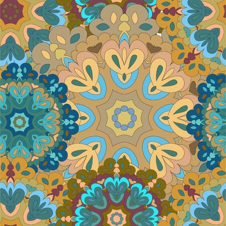 Colorful seamless pattern mandala, can be used for wallpaper, pattern fills, web page background, surface textures. Arabic, India, Islam.
