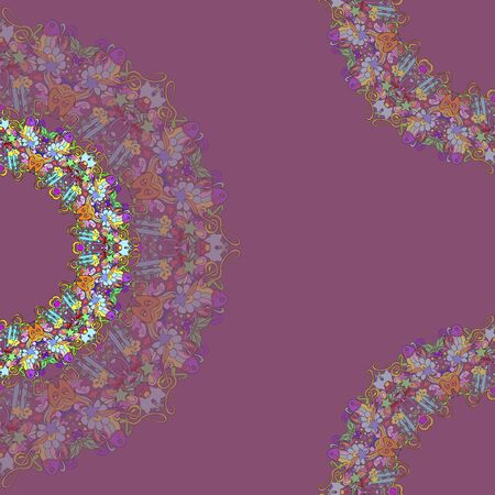 Colorful pattern mandala, can be used for wallpaper, pattern fills, web page background, surface textures.  Happy design Pattern. Arabic, India, Islam, Asia. Reklamní fotografie - 132404411