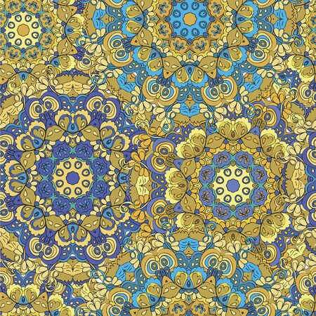 Colorful seamless pattern mandala, can be used for wallpaper, pattern fills, web page background, surface textures.  Happy design Pattern. Arabic, India, Islam, Asia. Reklamní fotografie - 132404419