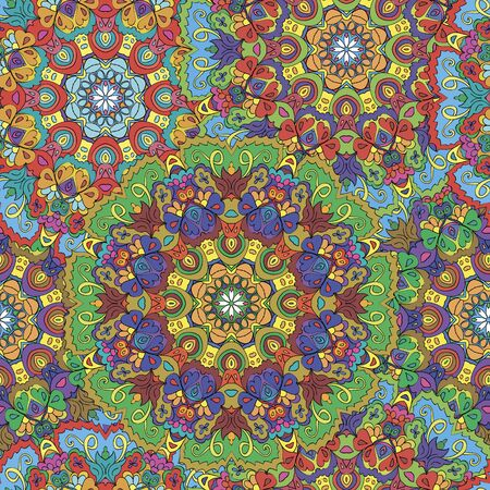 Colorful seamless pattern mandala, can be used for wallpaper, pattern fills, web page background, surface textures.  Happy design Pattern. Arabic, India, Islam, Asia. Reklamní fotografie - 132404425