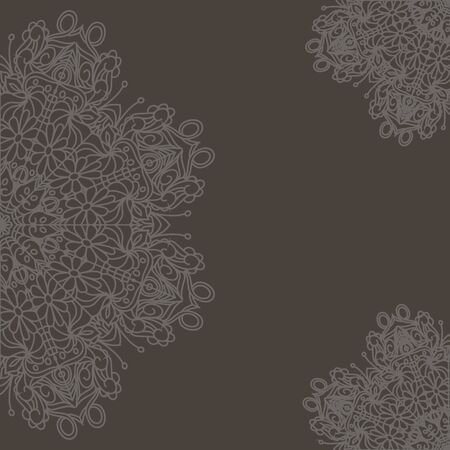 Ornamental round organic pattern, circle background with many details, can be used for wallpaper, pattern fills, ,surface textures,  round ornamental natural doily pattern, decor, decoupage.