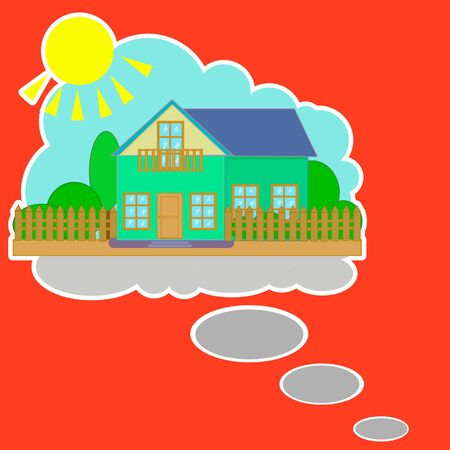 House of dream, cottage for the family. Can be used as a background on a web site, template, texture, architecture.
