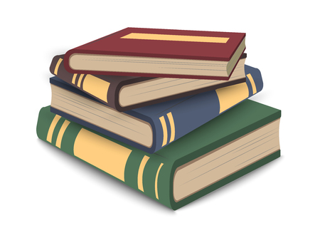 Stack of books icon in vector. Education symbol, library emblem. Information to read.