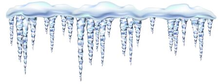 Icicles in shiny and glass hanging in winter and spring