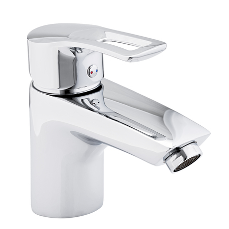 Mixer Cold Hot Water. Modern Faucet Bathroom. Kitchen Tap .. Stock ...