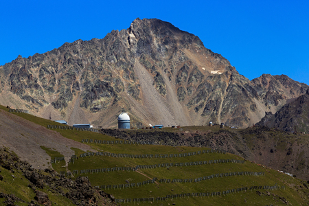Dome of the observatory for observing the stars in the mountains of the North Caucasus, Russia.