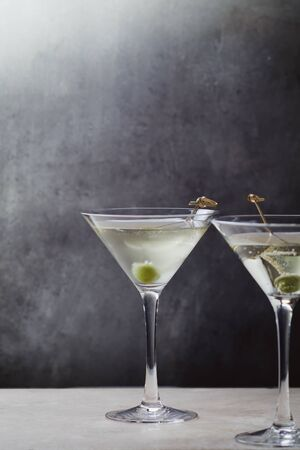 Martini Dry, a famous pre-dinner cocktail based on gin and dry vermouth