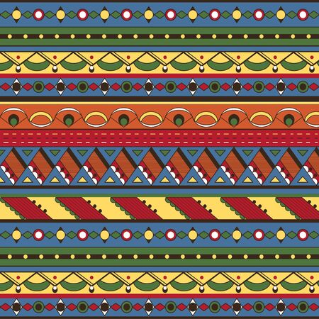 Seamless ethnic background  Mexican, african endless pattern Vector