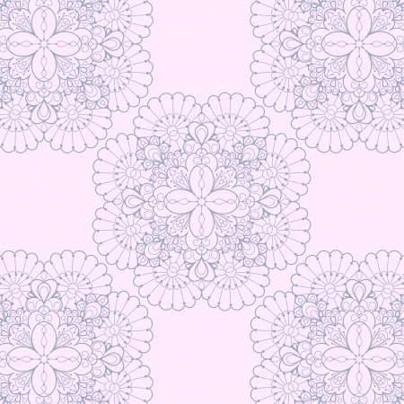 Seamless lace background  Romantic ornate lace pattern Vector